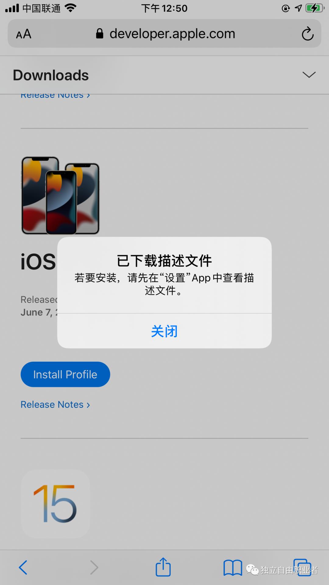如何升级安装 iOS15 beta 开发测试版本-独立自由职业者